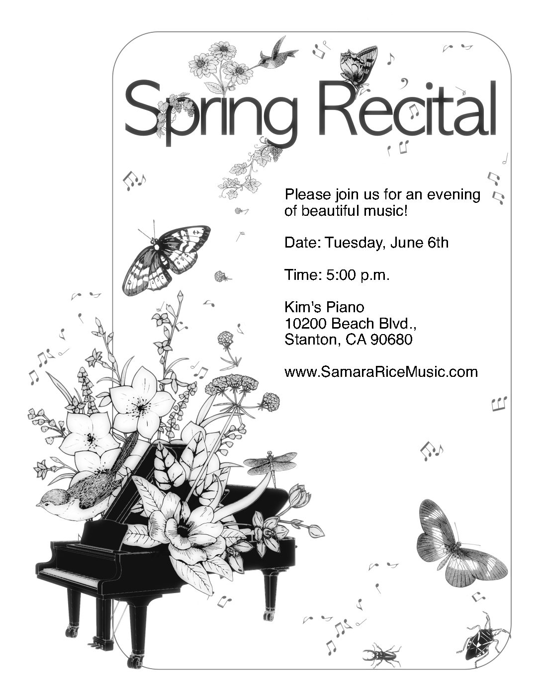 Samara Rice Music Spring 2017 Recital